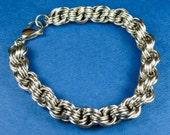Stainless Steel Triple Spiral Weave Chainmaille Bracelet