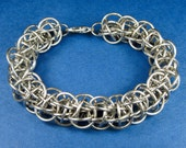 Stainless Steel Ice Wyrm Weave Chainmaille Bracelet
