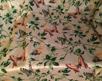 """Robert Allen Decorator Fabric Silk Marie Clair Butterflies 2+ yds 54"""" wide"""