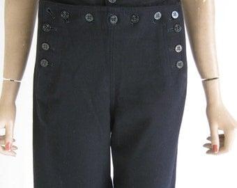 Vintage 70's Sailor Pants. Size Small