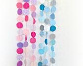 Custom Colours - Mini circle decorative garland banner geometric confetti