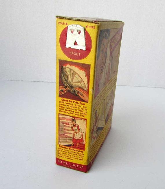 Vintage 1951 soilax household cleaner advertising box for Soil x cleaner