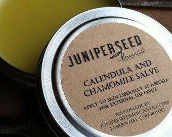 Calendula and Chamomile Healing Salve - Plastic-free metal tin