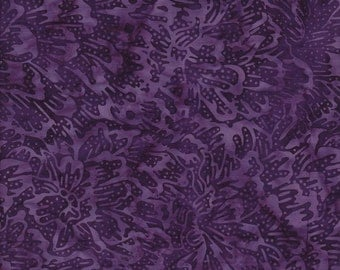 Batik Floral Purple Essential Collection Anthology Fabrics 1 yard