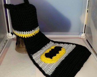 The Bat, Hat, Cape, Photo Prop, Crochet, Baby, Baby Shower Gift, It's the Bat, Yellow and Black