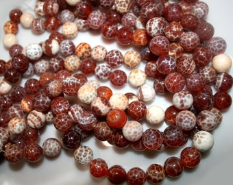 "SNAKESKIN Agate Round Beads 12mm 80 gr  15.5"" 33beads 92215"