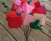 Origami flowers - cubes