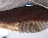 Cinch Sack - BackPack - Drawstring Bag - Upcycled Materials - desert tans