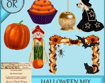 Halloween Clipart - Graphics Mix 1