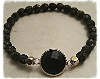 Beaded bracelet for women| lava stone bracelet| stacking bracelet| boho jewelry|