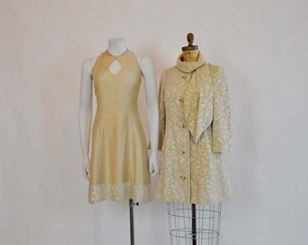 vintage lilli ann  / Vintage 1960's Lilli Ann Chenille Carpet Jacket Dress Set