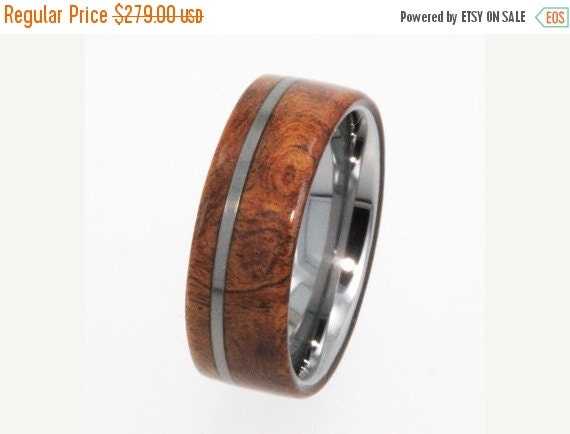 Holiday Sale 10% Off Tungsten Ring / Tungsten Wood Wedding Band / Wood Ring / Exotic Hard Wood - New1003