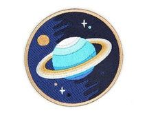 Galaxy Planet Iron On Patch - Embroidered Patch - Woven Patch - Mokuyobi Threads - Patches for Jeans - Cute Patches - Patches for Jackets