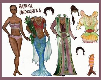 Annika, Underhill Paper Doll