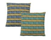 "Hand Printed Organic Cotton Pillow / Cushion Cover 18"" Thorns"