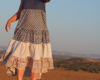 Dress -Felicitas -  Slip on Summer Dress Pure Cotton - made by Resplendent rags