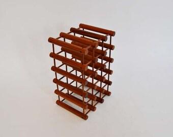 mid century wine rack / Architectural Danish Modern Wine Rack Richard Nissen
