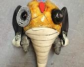 Ceramic elephant mask, wall hanging