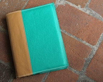 Bible Cover - Bible Journal- Leather Bible Case - You choose colors, custom made to fit your bible
