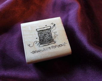 Sewn just for you/ Spool / Tag/ Cards / Rubber Stamp