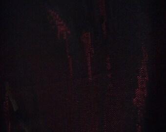 Vintage haori S139, silk, black, red, summer