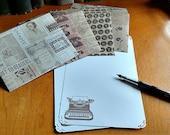 Letter Set Stationery Vintage Typewriter 10 pages and 5 envelopes