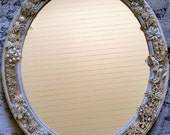 Antique Rhinestone Wall Mirror, Jewel Encrusted Wall Mirror, Home Decor