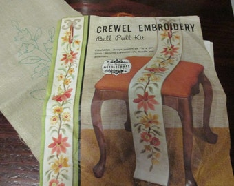 Elsa Williams Vintage Crewel Kit Bell Pull Jacobean Bellpull KC 269 Complete and Ready to Stitch