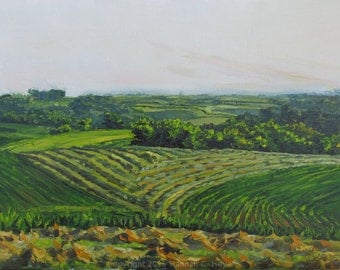 The Intricate Land, original plein air oil painting