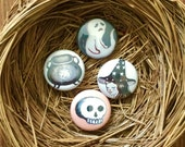 Witch and Boo Button Set