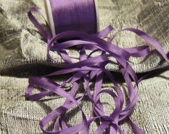 5 yards Light Plum, in 4mm silk ribbon in color #572