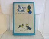 Vintage Child Party Book Boys Girls Aqua Blue Sixties
