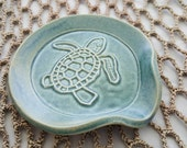Spoon Holder - Tea Bag Holder - Turtle - Blue