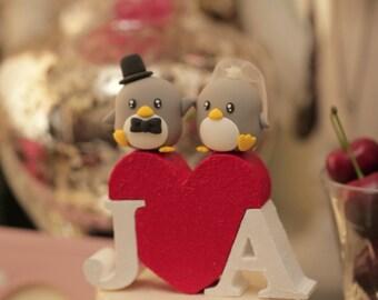 Penguins wedding cake topper (K442)
