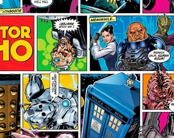 """Doctor Who Comic Fabric Remnant 20"""""""