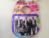 Beverly Hills 90210 Baby Gift - Upcycled Bib from Vintage Sheets