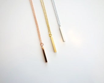 tiny bar necklace