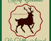 Merry Christmas Filthy Animal Stencil 7 mil Transparent Blue mylar Folk Art From The Harbor