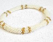bead bangle roll on bracelet seed bead jewelry