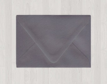 10 A2 Envelopes - Euro Flap - Gray, Black & Silver - DIY Invitations and Response Cards - Envelopes for Weddings and Other Events