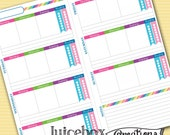 Forever Planner Printable - Midori - Weekly Spread - Rainbow - Instant Download - Undated