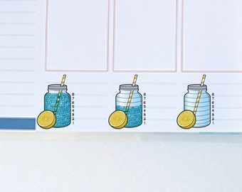 Hydrate Water with Lemon - Instant Download - to fit your Erin Condren Weekly Boxes