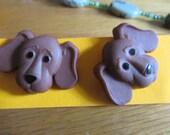 beagle puppy earrings