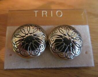 swirl flower earrings