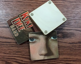 THE KIKI DEE Band I've Got the Music In Me record album coasters with wacky vinyl bowl