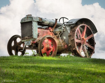Antique Fordson Tractor Photograph - Old Farm Machinery, Agricultural, Historical, Americana, Rustic, Industrial, Fine Art Print, Signed
