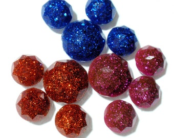 Vintage Dome Rhinestone Cabochons Resin Replica Reproductions Jewelry Making Phone Case Decoden Collage Mixed Media Bow Centers A2