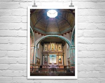 Oceanside California, San Luis Rey, Spanish Mission, Vertical Art Print, Church Picture, Church Art, Architecture Art, Murray Bolesta