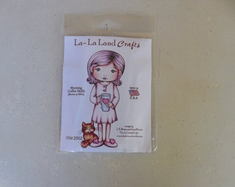 Morning Coffee Molli, La-La Land Crafts Stamp
