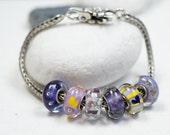 Charm Bracelet Beads // Fits Troll // Charm Beads // Hand Blown Murano Glass